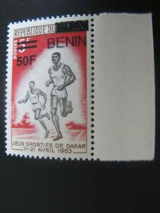 BENIN DAHOMEY 1963 5 Fr Aufdruck overprint  - Sportspiele Dakar Laufen