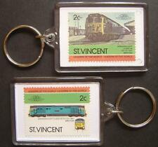 1967 BR Class 50 DREADNOUGHT Hoover Train Stamp Keyring (Loco 100)