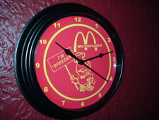 McDonald's Speedee Restaurant Diner Kitchen Advertising Black Wall Clock Sign