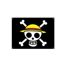 One Piece Anime Straw Hat Pirates Cosplay Flag