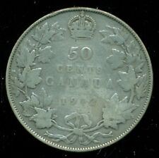 1912 Canada, King George V, Sterling Silver Fifty Cent Piece  F201