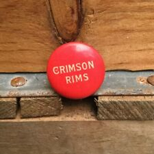 Antique 1890s / 1900s Bicycle Stud Advertising Button Pin CRIMSON RIMS