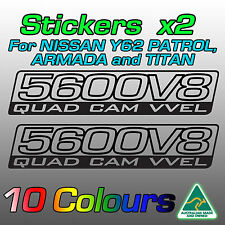 Stickers for Nissan Patrol / Armada / TITAN 5.6 Litre 5600 Vk56