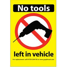 Aucun Outil gauche en véhicule la nuit Autocollant-POIDS LOURDS/Vans/Voiture/Camion wagons