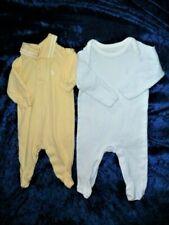 Ralph Lauren Baby Boy Stripe Polo Romper Blue White Yellow 0-3