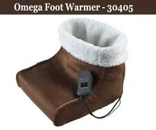 Omega 30405 14.4Watt Easy to Use Brown Electric Foot Warmer with Heat Massager
