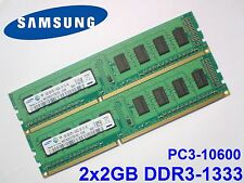 4GB 2x2GB DDR3-1333 PC3-10600 1333MHz SAMSUNG M378B5773CH0-CH9 PC DESKTOP MEMORY