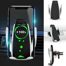 360° Fast Charging Wireless Charger Car Mount Phone Holder Automatic Clamping US