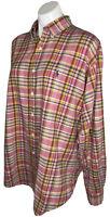Ralph Lauren Blake Mens Large Multicolored Plaid Button Down Long Sleeve Shirt