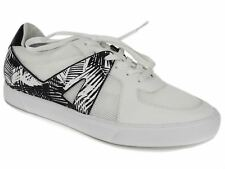 Dolce Vita Women's Xylia Lace Up Sneakers Black/White Palm Print Leather 8.5 M