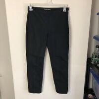 Everlane Women's Size 6 The Curvy Side Zip Work Pants Solid Black Stretch