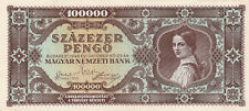 100 000 PENGO FROM HUNGARY 1945 VF+ BANKNOTE!PICK-120