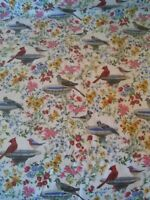 """Linda Picken Blank BIRDS OF A FEATHER Multi 9004 99 24/"""" Panel Quilt Fabric"""
