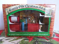 Santa's Olde Christmas Gift Shop Fire Truck Wooden Ornament in Box