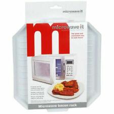 Microwave Bacon Rack Crisper Tray Cooker Microwaveable Cook Defrosting Breakfast