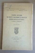S Francesco - Examen critique des Récits ... visite de Jaqueline de Settesoli