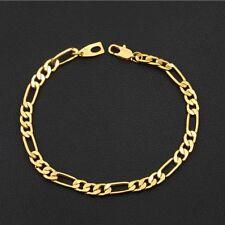 Curb Fashion Chain 18k Jewelry Bangle Gold Bracelet Gold Plated Men's Bracelet