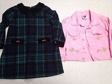 Fall Winter Spring Coat Jacket Lot Girl size 2 2T Lands End Holiday Christmas