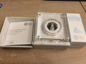 2019 Royal Mint Peter Rabbit 50p Fifty Pence Silver Proof Coin Box & Coa