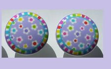2 PURPLE LAVENDER RAINBOW DRESSER DRAWER KNOBS BY ORDER