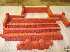 13 SET OF RED  BRICK WALLING. NEW STYLE 00 GAUGE SCENERY BRAND NEW .