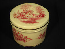 "Spode-Bone China-Enland-1 1/2"" tall-2"" diameter-container & cover-gold trim"