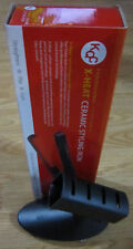 "KQC X-Heat Tourmaline Ceramic Flat Iron 1"" + Iron Holder - NEW"