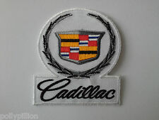 MOTOR RALLY RACING SEW ON / IRON ON PATCH:- CADILLAC
