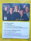 cartes telephone 1998 phone cards 100 units bon jovi phonecards telefonkarten gq