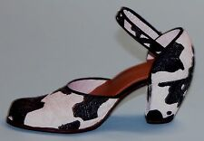 "Just the Right Shoe, Raine, ""Bovine Bliss"" mixed media miniature #25036 Nib/Coa"