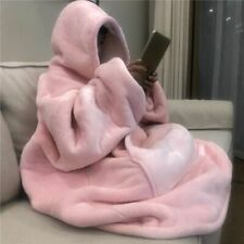 Cool Winter Thick Comfy TV Blanket Sweatshirt Solid Warm Hooded Blanket Weighted