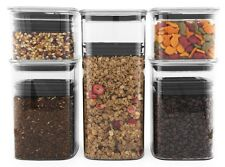 Planetary Design AirScape Lite 5 Pack Food Coffee Storage Canister Set in Clear