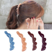 4 Colors Acrylic Large Twisted Banana Hair Clip Women Claw-Comb&Gifts