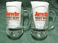 SPRECHER Brewing Co.12oz ROOT BEER Heavy Glass Mugs-Brewed In Milwaukee,WI-Diner