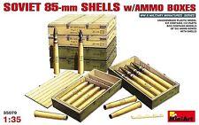Cajas de munición con conchas soviético 85mm (T-34, SU-85) 1/35 Miniart