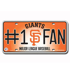 MLB San Francisco Giants Number #1 Fan Automotive Gear Car Truck License Plate