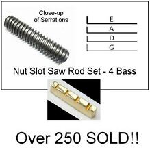 GeetarGizmos FREE SHIP - 4 Bass Guitar NUT SLOTTING SAW RODS File Tool Set