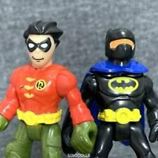 Lot 2PCS Fisher Price Imaginext DC Super Friends Batman & Robin  Figure Boy Toys
