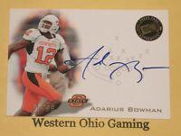 2008 Press Pass Adarius Bowman #PPS-AB RC Auto Autographed Rookie Card