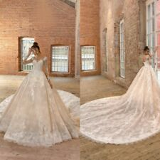 Champagne Wedding Dresses Bridal Gowns Long Sleeves Plus Size 4 6 8 10 12 14 16