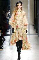 Latest Catwalk Print Dresses Ruffle Asymmetric Women's Dress Zimmerman Style