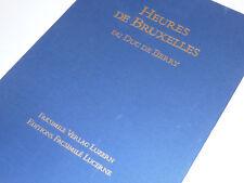 ART swiss LUZERN LUCERNE Heures de Bruxelles DUC de BERRY facsimilé HERZOGS VON