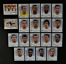 Panini FIFA World Cup Brazil 2014 Complete Team England + Foil Badge