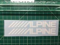(2) Alpine Speakers OEM Vinyl Decal Sticker Car Window Wall Jdm Illest stereo