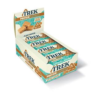 Trek High Protein Salted Caramel Flapjack - Gluten Free - Plant Based Protein -