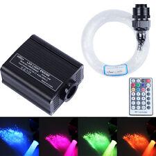 16W RGBW LED plastic Fiber Optic Star Ceiling Kit Light 150pcs*0.75mm*2m+crystal