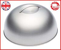 KitchenCraft MasterClass Melting Dome and Burger Cover, Stainless Steel, Silver,
