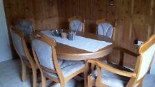 Esszimmertisch mit 6 Stühlen aus Eiche rustikal - gebraucht-