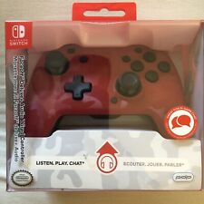 NEW PDP Nintendo Switch Faceoff Deluxe Audio Wired Controller NEW RED CAMO COLOR