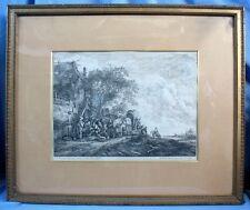 Paysage hollandais avec Villageois et Charriot... / Le MASURIER /  Anvers XVIIè